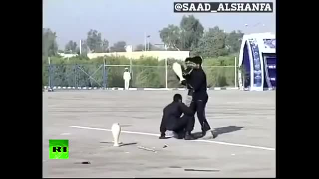 Watch Iranian military vs vase: Epic fail GIF on Gfycat. Discover more Army, Break, Lo, Tough, Viral, command, crash, disappointed, drill, kick, lmao, rt, smash, social, soldier, stunt, threat GIFs on Gfycat