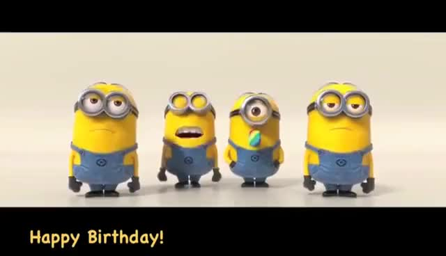 Watch and share Minions Sing Happy Birthday GIFs on Gfycat
