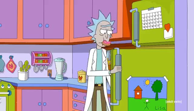 Watch and share Simpsons Couch Gag | Rick And Morty | Adult Swim GIFs on Gfycat