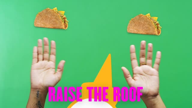 celebrate, cheer, cheering, hands up, jack in the box, party, party time, raise the roof, taco, tacos, yes, Raise The Roof GIFs