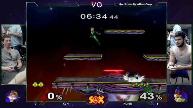 S@X - KVN (Sheik) Vs. Nurok (Falco) SSBM Tournament - Smash Melee
