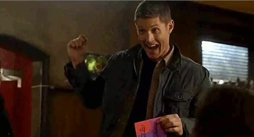 Watch Excited Dean Winchester GIF by Reaction GIFs (@sypher0115) on Gfycat. Discover more related GIFs on Gfycat