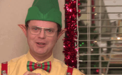 christmas, close, ears, elf, epic, evil, funny, happy, hilarious, holiday, in, merry, office, pose, smile, the, the office, up, xmas, zoom, Epic elf GIFs