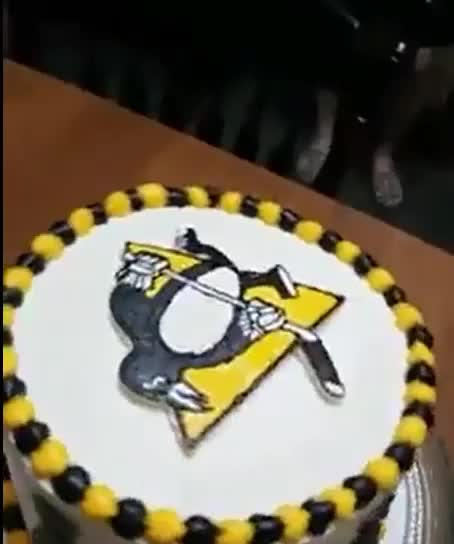 Marvelous My Wife Made Me A Penguins Birthday Cake Gif Gfycat Funny Birthday Cards Online Aeocydamsfinfo