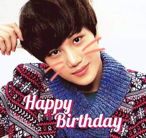 Watch and share Happy Birthday Kai Kai Exo GIFs on Gfycat
