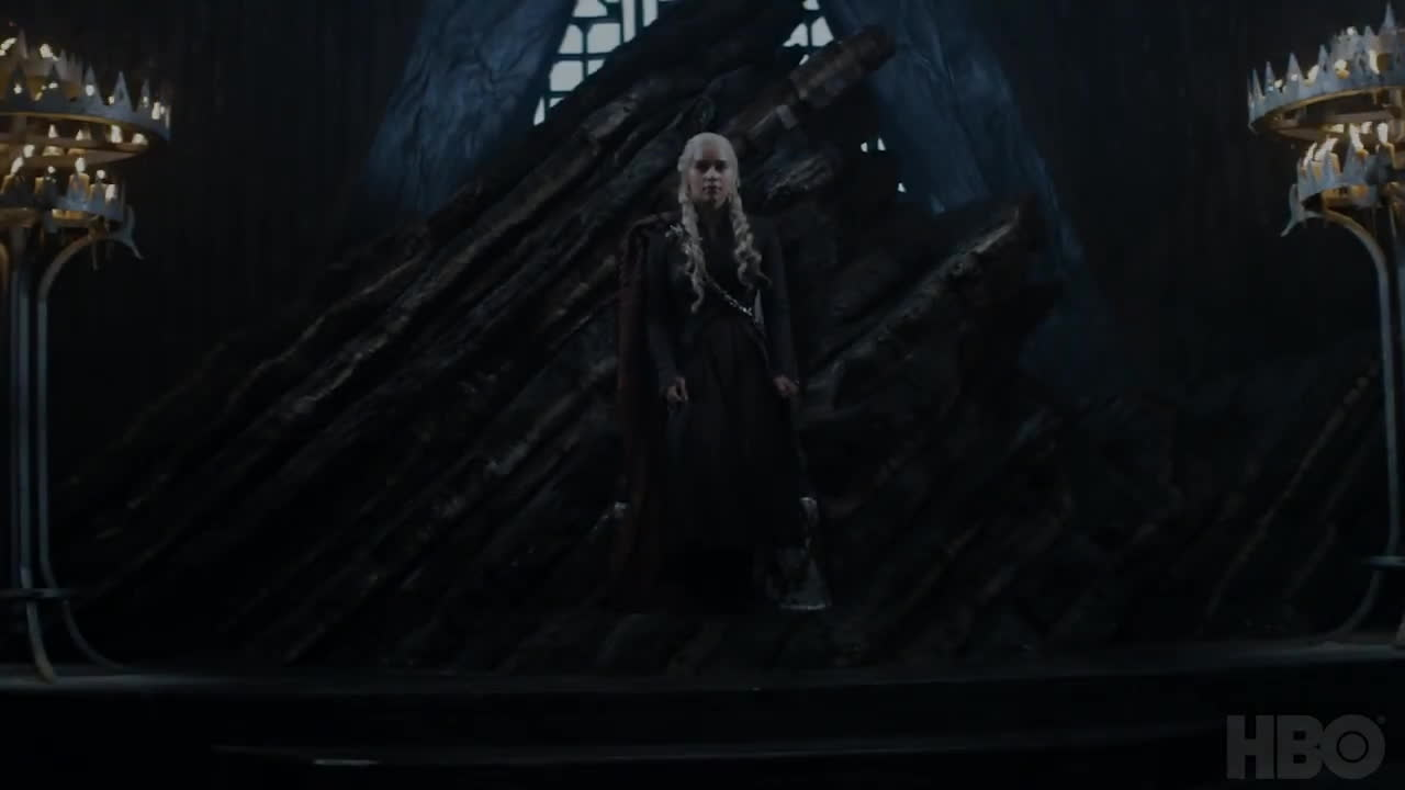 cersei lannister, daenerys targaryen, emilia clarke, game of thrones, game of thrones season 7, gameofthrones, got, hbo, jon snow, kit harington, lena headey, long walk, television, tv, tv show, Daenerys Sitting - Game of Thrones Season 7 GIFs