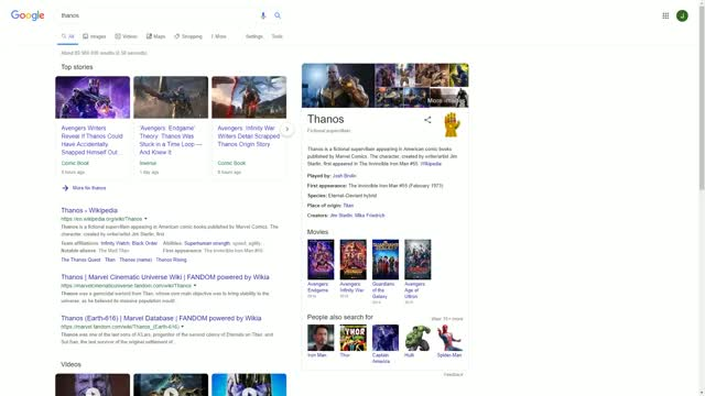 Watch and share Google's Thanos Easter Egg GIFs by birjolaxew on Gfycat