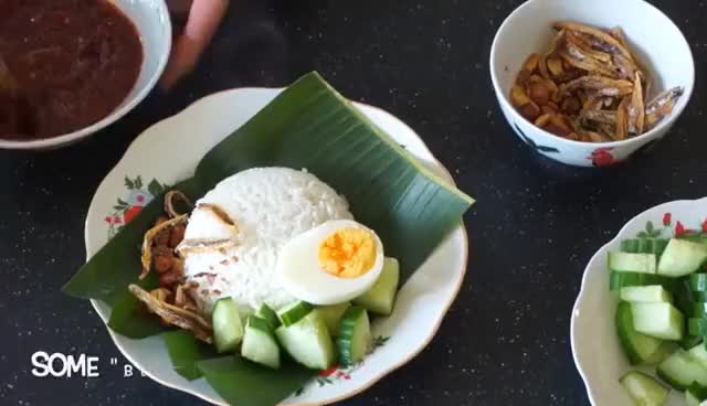 Watch and share How To Make Nasi Lemak Kukus (Steamed Coconut Rice) GIFs on Gfycat