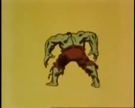 Watch The Incredible Hulk (1966) - Intro (Opening) GIF on Gfycat. Discover more 1966, Hulk, The Incredible Hulk, animation, cartoon, intro, opening, television, theme song, tv GIFs on Gfycat