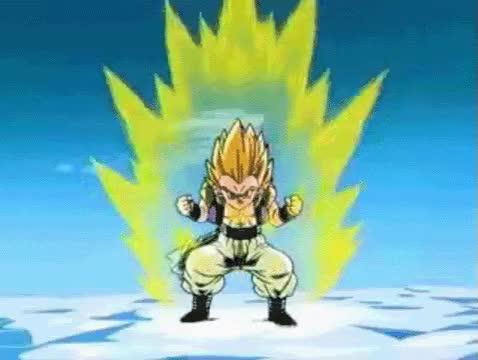 Watch and share Super Saiyan One Is Used By Broly,Goku,vegeta,gohan,goten,trunks,bardo GIFs on Gfycat