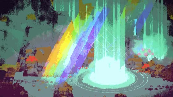 Watch Totem Teller - Falls Subdued GIF by @grinningpickle on Gfycat. Discover more gamdev, glitch, rainbow, waterfall GIFs on Gfycat