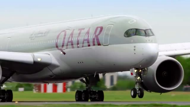 Watch and share Qatar Airways Inaugural Flight To Dublin, Ireland GIFs on Gfycat