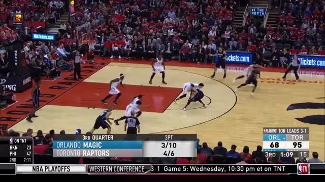 Watch and share Norman Powell Runs The Floor For A Dunk GIFs on Gfycat