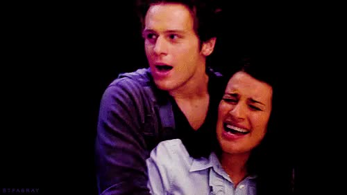 Watch and share Jonathan Groff GIFs and Lea Michele GIFs on Gfycat