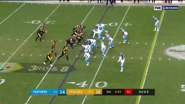 Watch  Vance McDonald Demolishes Donte Jackson GIF on Gfycat. Discover more Carolina Panthers, Pittsburgh Steelers, football GIFs on Gfycat