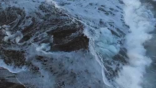 Watch this GIF on Gfycat. Discover more blue, dream, drone photography, fdgif, fluid, flying, gif, ice, iceland, nature, ocean, surreal, water, waves GIFs on Gfycat