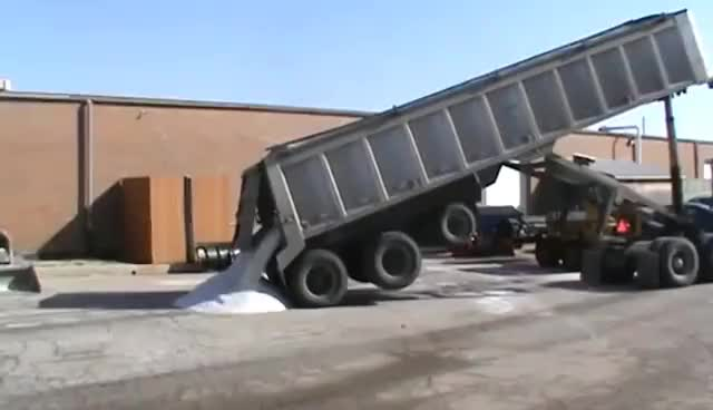 Watch and share Salt Delivery/Dump Truck GIFs on Gfycat