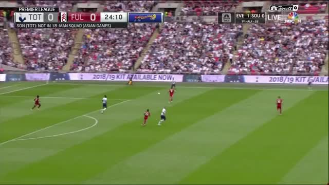 Build up play + Dele flick  vs Fulham prem 18/08/2018