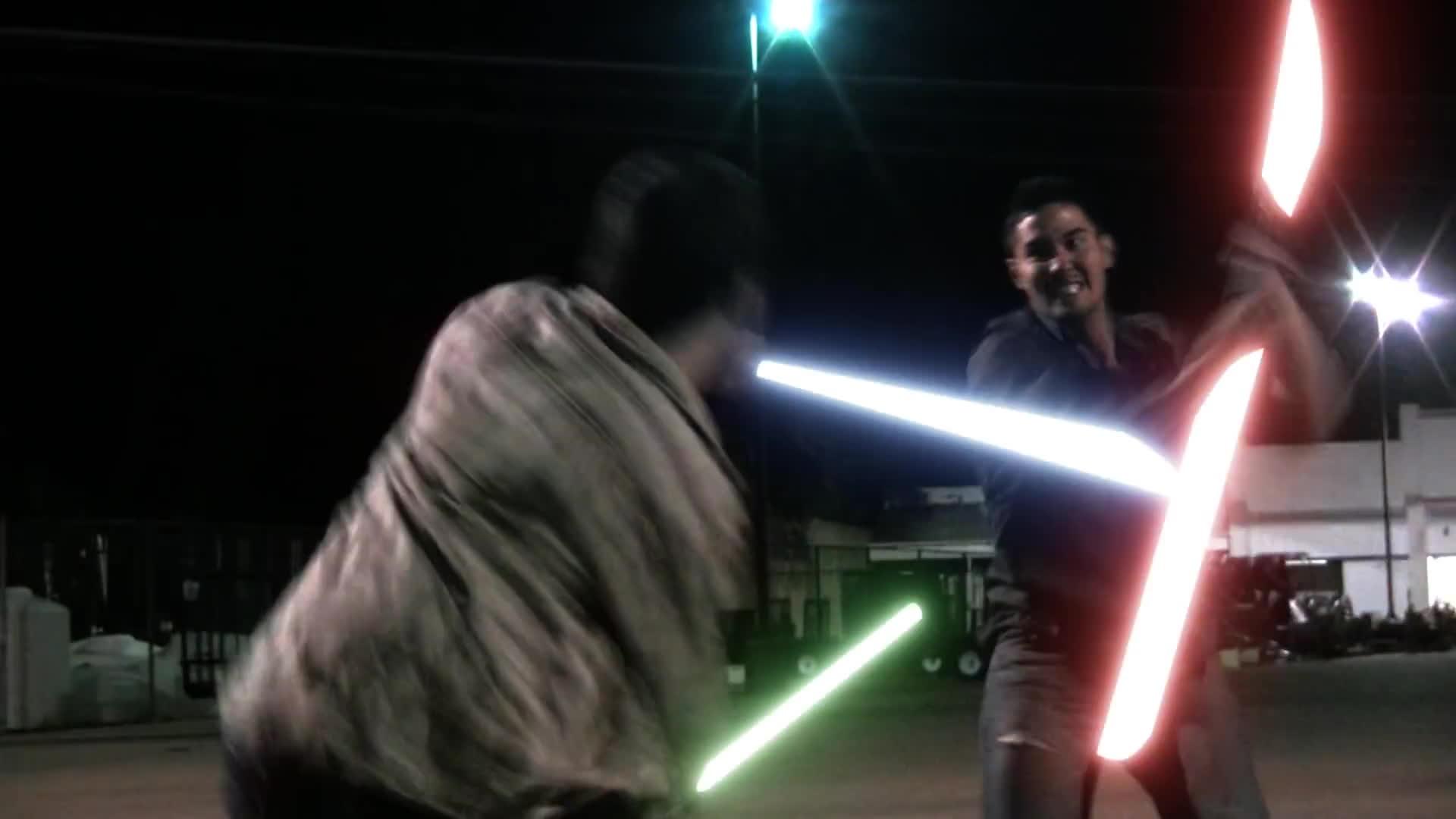 fight, fighting, light saber, lightsaber, omg, star wars,
