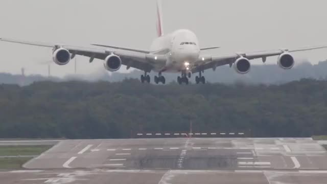 Watch and share Airbus A380 Crosswind Landing GIFs on Gfycat