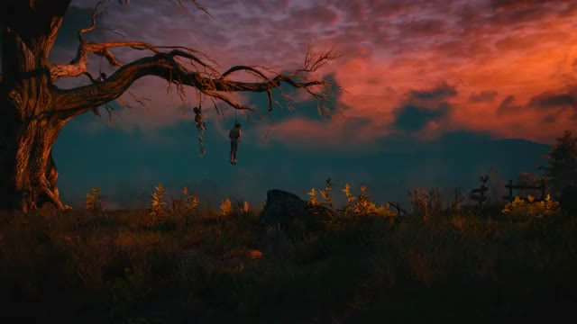 Watch [The Witcher 3] Hanged Man's Tree at Dusk (reddit) GIF by podizzler300 (@podizzle3000) on Gfycat. Discover more 60fpsGamingGifs, 60fpsgaminggifs GIFs on Gfycat