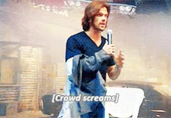 Watch gif mine supernatural interview Jared Padalecki gif: jared padalecki GIF on Gfycat. Discover more related GIFs on Gfycat