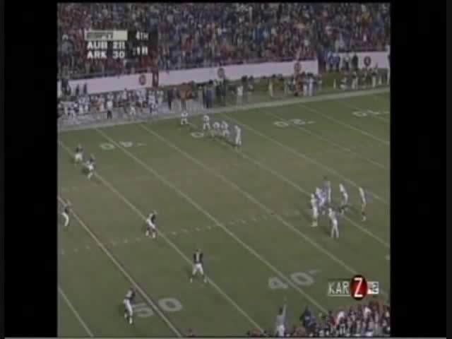 Anthony Eubanks, Barry Lunney Jr., JJ Meaders, Madre Hill, SEC Football, Sports, WARMACHINE2013, yt:stretch=16:9, Arkansas vs. Auburn 1995 GIFs
