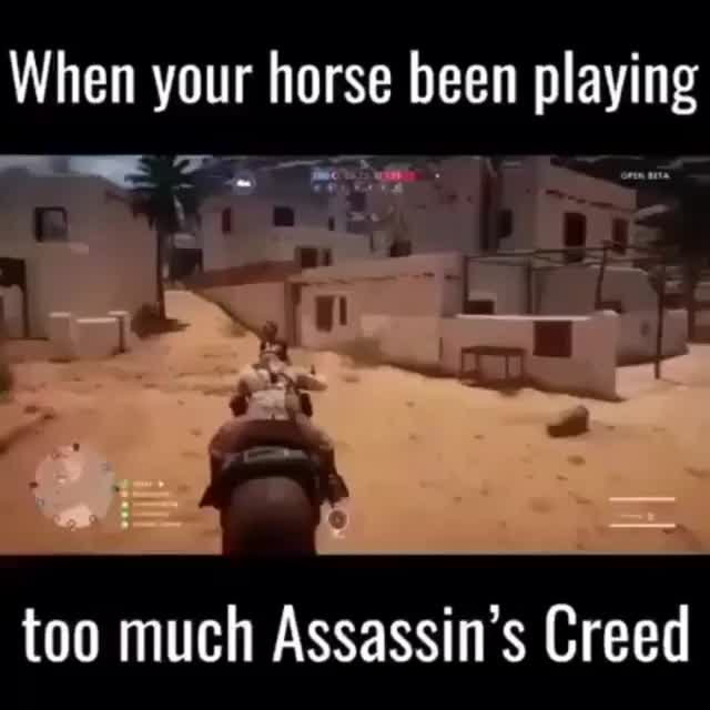 Watch When your Horse been playing too much Assasins Creed GIF by @vandersveldt on Gfycat. Discover more related GIFs on Gfycat