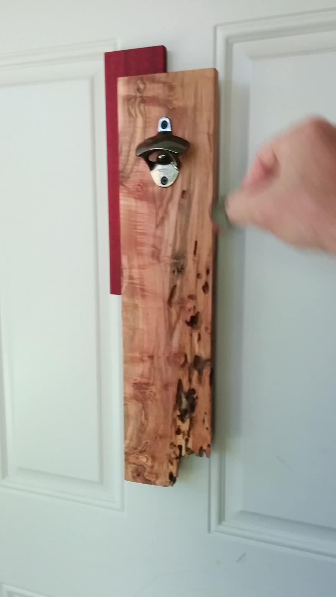 woodworking, Bottle opener with hidden magnet cap catch GIFs