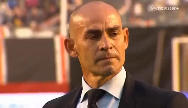 Watch and share Paco Jémez Llora Tras El Descenso Del Rayo Vallecano GIFs on Gfycat