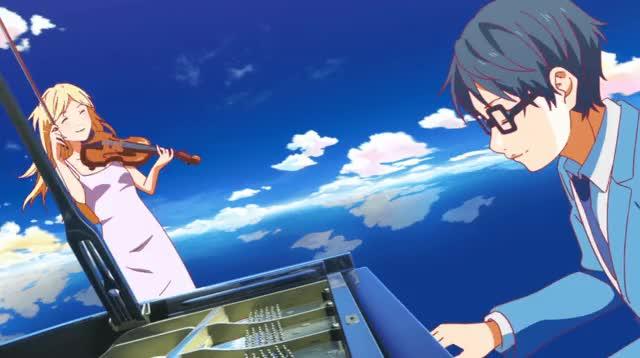 Watch Kaori & Kousei GIF by Buta (@butata) on Gfycat. Discover more anime, kaori, kousei, music, piano, shigatsu wa kimi no uso GIFs on Gfycat