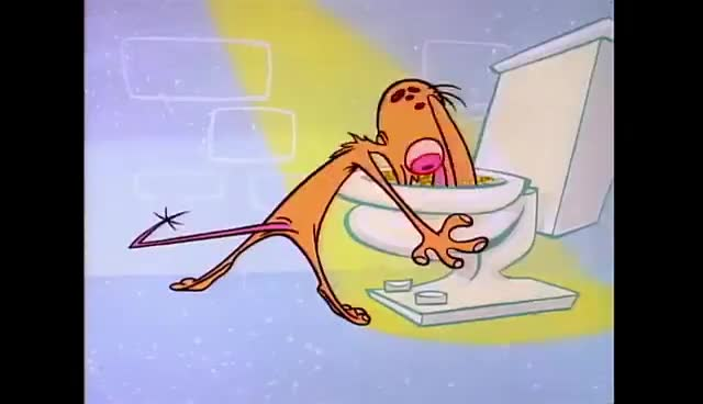 toilet, R.E.M. And stimpy toilet GIFs