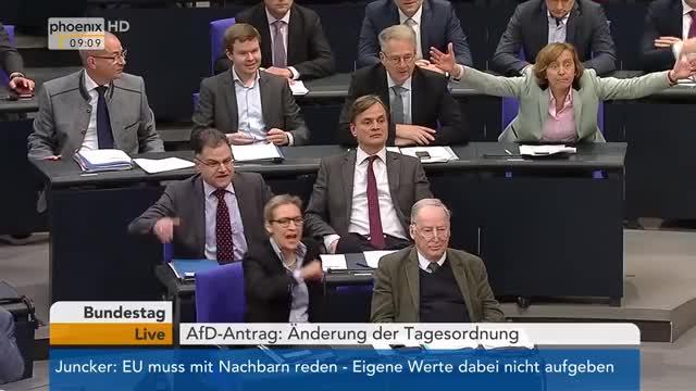 Watch Bundestag: Antrag der AfD auf Änderung der Tagesordnung am 23.03.2018 GIF on Gfycat. Discover more AfD, Bundestag, Erweiterung, Fernsehen, Information, Nachrichten, Politik, TV, Tagesordnung, phoenix GIFs on Gfycat