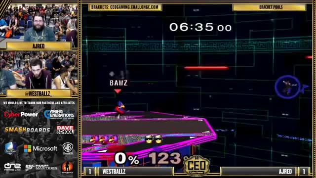 CEO 2015 - Westballz (Falco, Fox) Vs. Ajred (Captain Falcon) SSBM Bracket Pools - Smash Melee