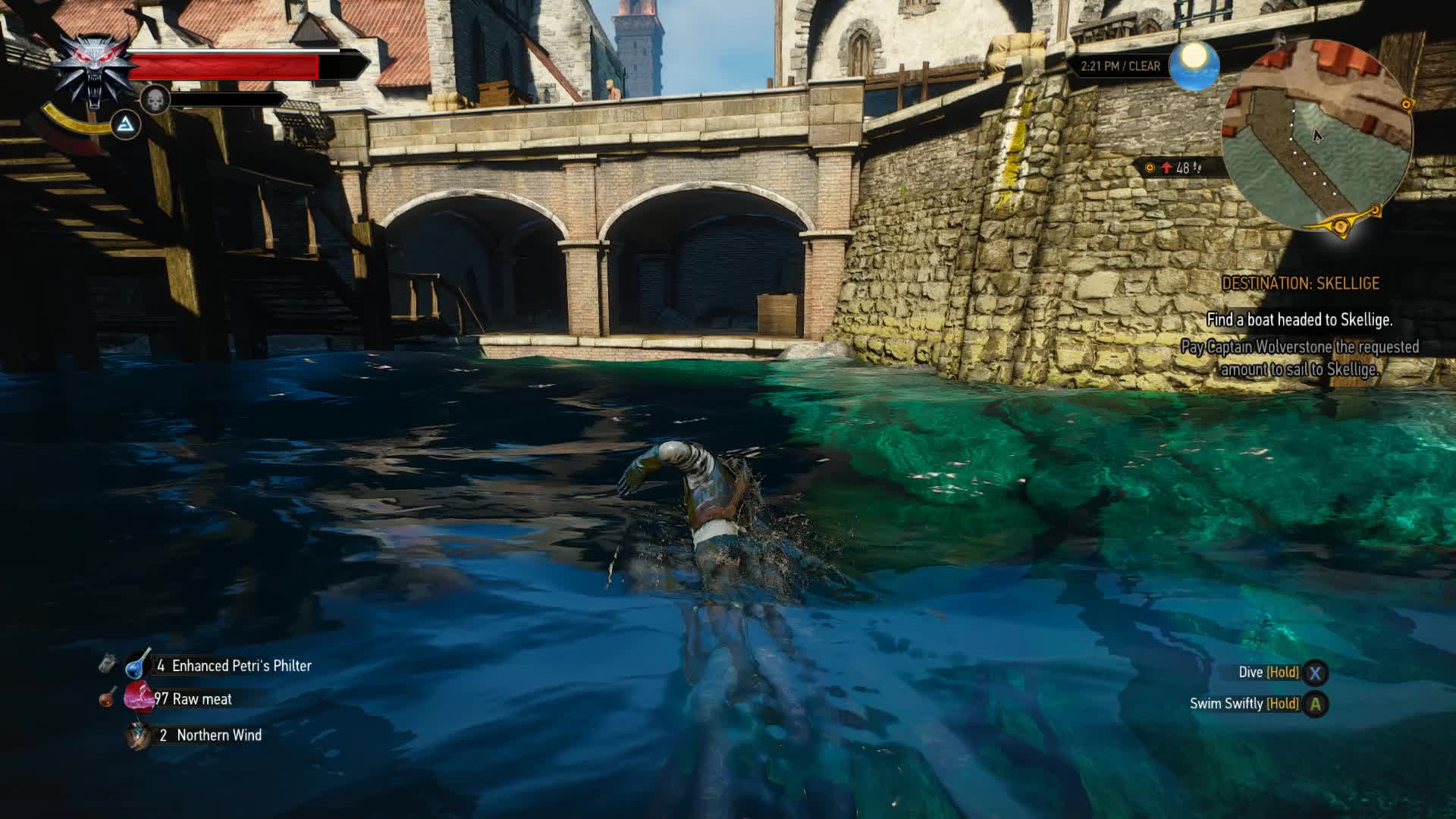 witcher 3, swimming GIFs