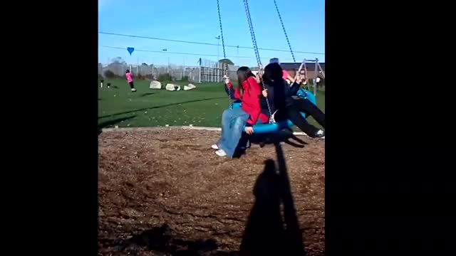 How NOT to stop a swing. falling Swing, Park, Joshua, Oops, Lol, Funny, Playground, fall, Spinning, Stop GIF