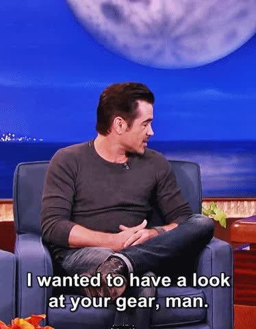 Watch and share Colin Farrell GIFs and Conan GIFs on Gfycat