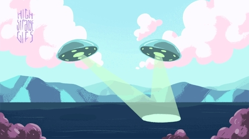 aliens, cryptids, cryptozoology, gif, gifs, high strangegifs, loch ness, loch ness monster, nessie, ufo, ufos, Twin UFOs Seen Searching For Loch Ness Monstervia Mysterious GIFs