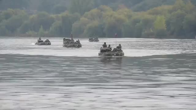 Watch and share Canadian Armed Forces Engineers And Italian Troops Doing An Amphibious Exercise GIFs by sammy on Gfycat