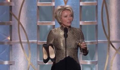 emma thompson, shoe, shoes, emma thompson shoes martini GIFs