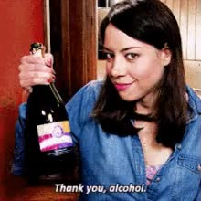 Watch Thank You, Alcohol GIF on Gfycat. Discover more aubrey plaza GIFs on Gfycat