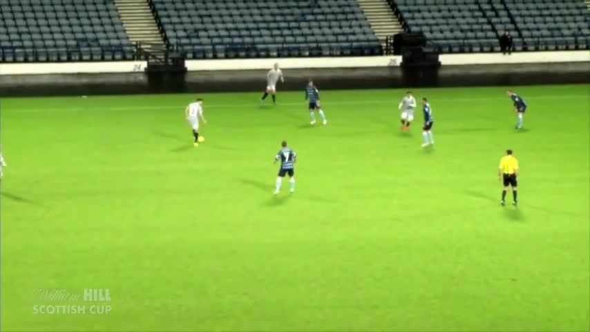 scottishfootball, soccer, Chris Duggan with a long-range effort for Queen's Park v Forfar Athletic (Scottish cup 3rd round) (reddit) GIFs