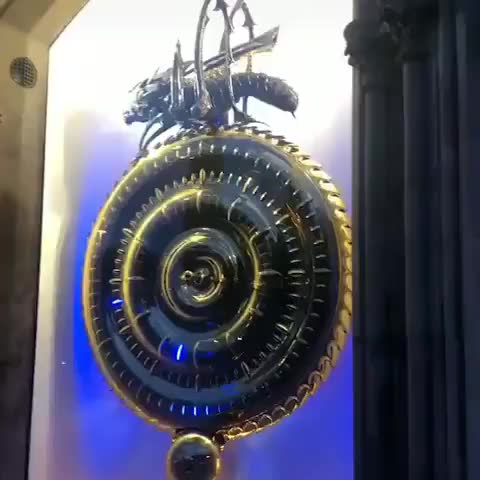 Watch and share The Corpus Clock In Cambridge GIFs by tothetenthpower on Gfycat