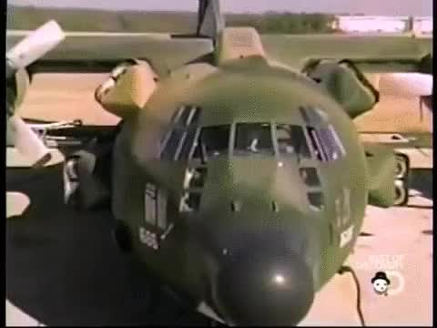 Watch and share C-130 Specially Modified To Land In A Stadium And Rescue Hostages In Iran In 1980 GIFs on Gfycat