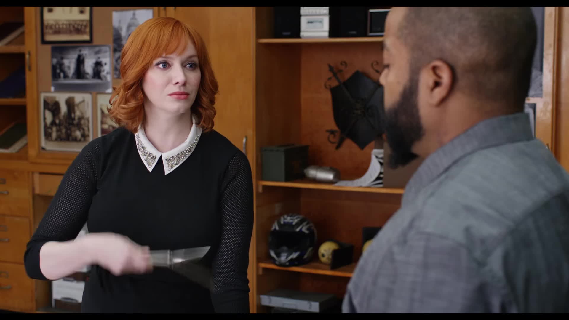 christina hendricks, film, joan holloway, mad men, movies, Fist Fight   Official Trailer #1 [HD] Christina Hendricks, Ice Cube, Charlie Day GIFs