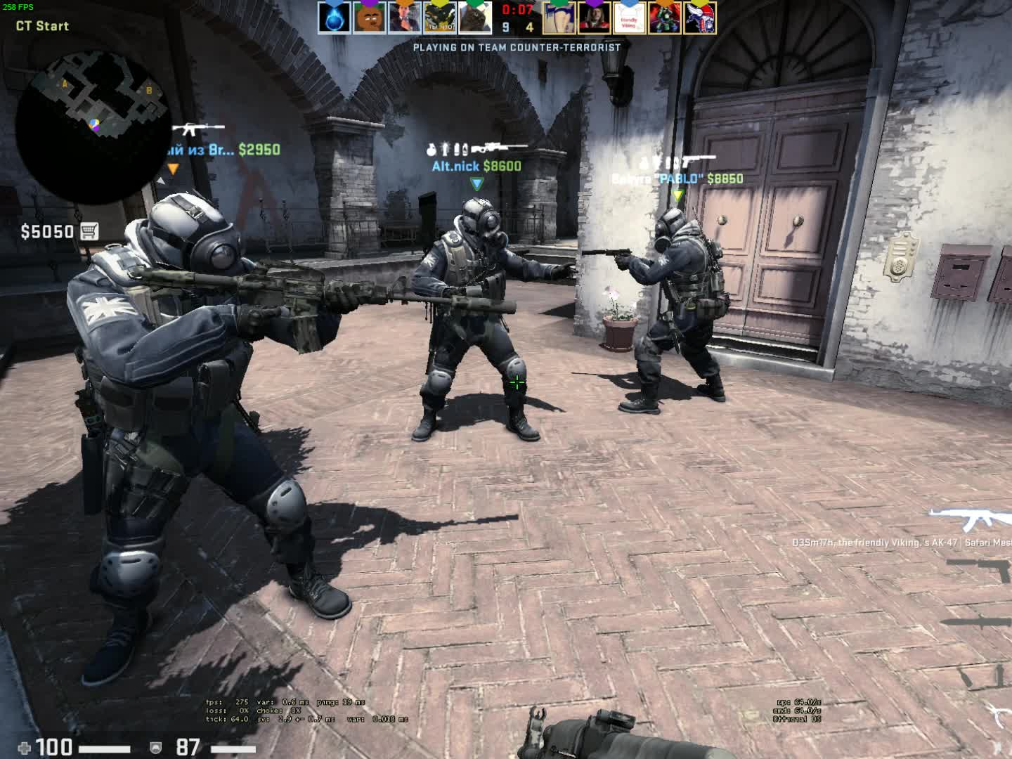 csgo, What happens when you throw a flash the same moment the round ends GIFs
