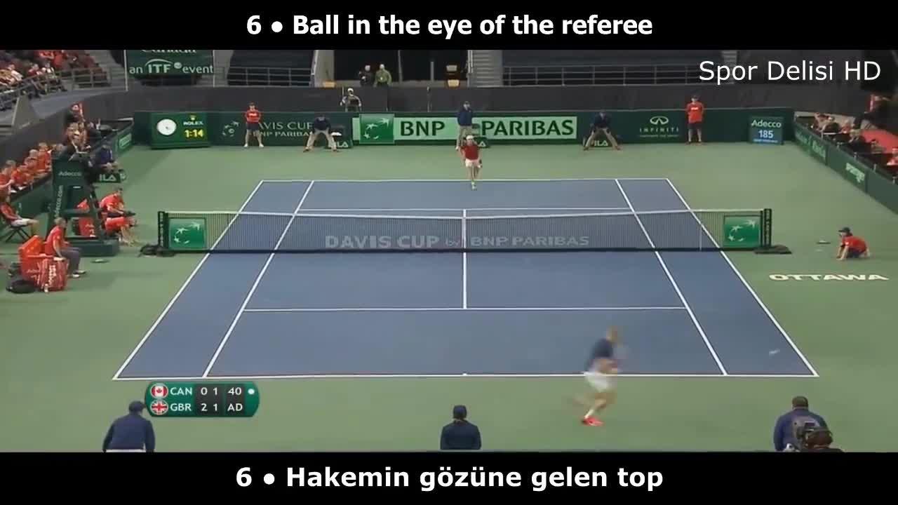 Craziest Moments in Tennis History, Tenis Tarihinde Unutulmaz Olaylar, Tennis, Tennis History, Top 20 Craziest Moments in Tennis History, funny tennis, tenis, teniste garip olaylar, tennis funny moments, çığlık atan tenisçi, Tenis Tarihinde Unutulmaz Olaylar ● Top 20 GIFs
