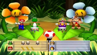 Watch and share Mario Party 2 Mini Games - Toad's Bandstand Flower Waltz GIFs on Gfycat