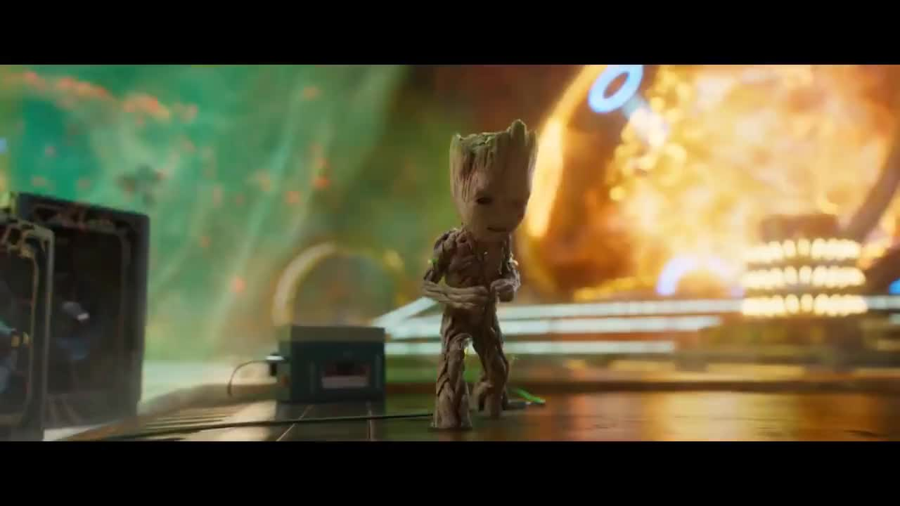 Guardians Of The Galaxy Vol 2 Groot Dances To Mr Blue Sky HD