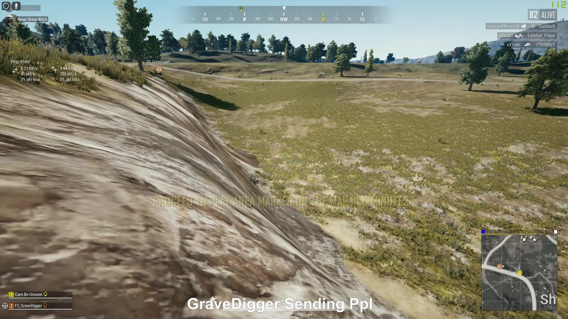 pubattlegrounds, pubg, GraveDigger Launching Someone GIFs